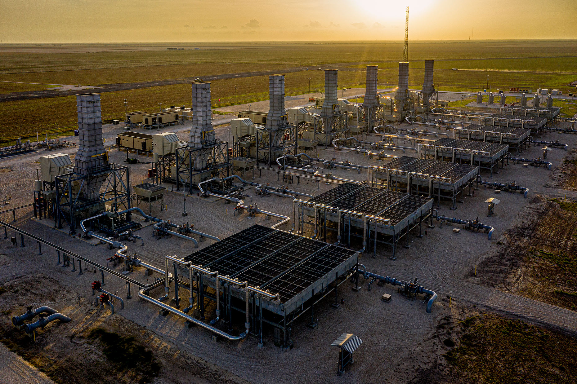 Enbridge Agua Dulce Compressor Station, South of Robstown, Texas