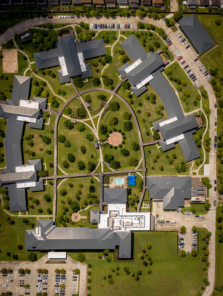 Overhead View of The Menninger Clinic Campus, Houston, Texas